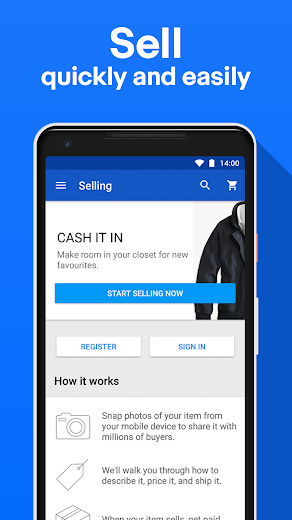 Screenshot 2 for eBay's Android app'