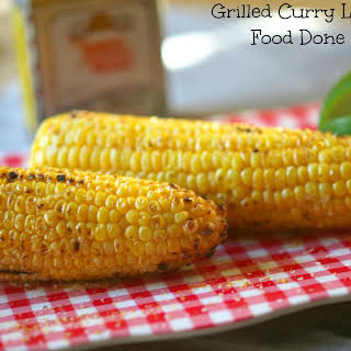 Grilled Curry Lime Corn on the cob.