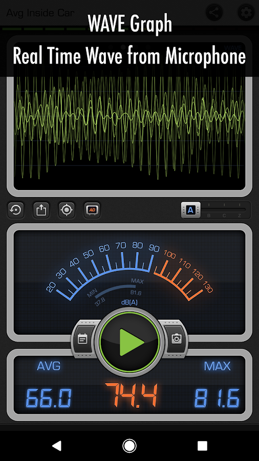 Decibel X: dBA Noise Meter, Sound Pressure Level - Android ...