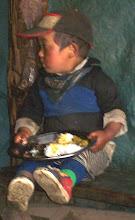 Photo: auch die kleinsten genießen schon ihr Dhal Bhat