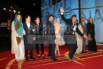 Photo: 12/10/2011 - Leila Hatami, Brillante Mendoza, Maya Sansa, Radu Mihaileanu, Jessica Chastain, Emir Kusturica, Aparna Sen, Abdelkader Lagtaa and Nicole Garcia - 11th Annual Marrakech International Film Festival - Closing Ceremony - Marrakech - Marrakech, Morocco - Keywords:  Orientation: Portrait Face Count: 1 - False - Photo Credit: Pixplanete / PR Photos - Contact (1-866-551-7827) - Portrait Face Count: 1