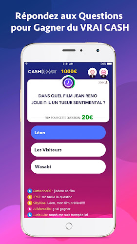 Cash Show - Gagnez du Cash ! Android App Screenshot