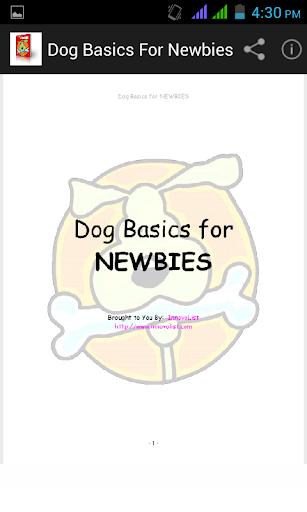 Dog Basics for Newbies.