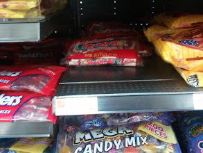Photo: I did buy the last bag of Smarties on the shelf though.