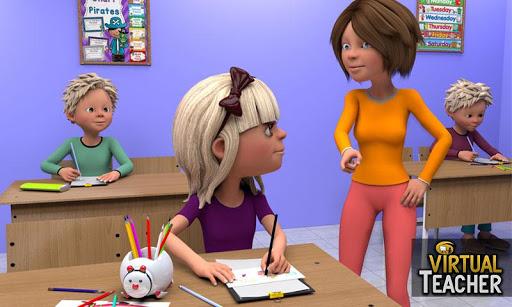 Virtual Girl High School Teacher: Happy Family Fun 1.0.8 screenshots 4