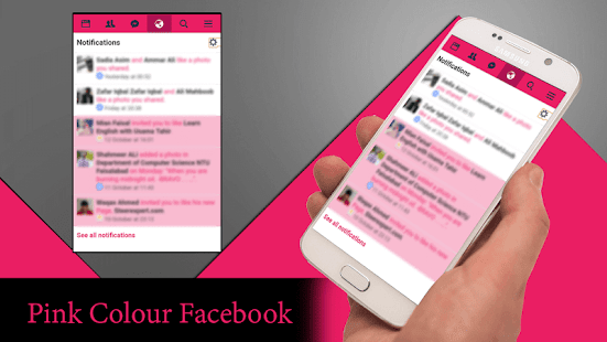 Pink Theme for Facebook - náhled