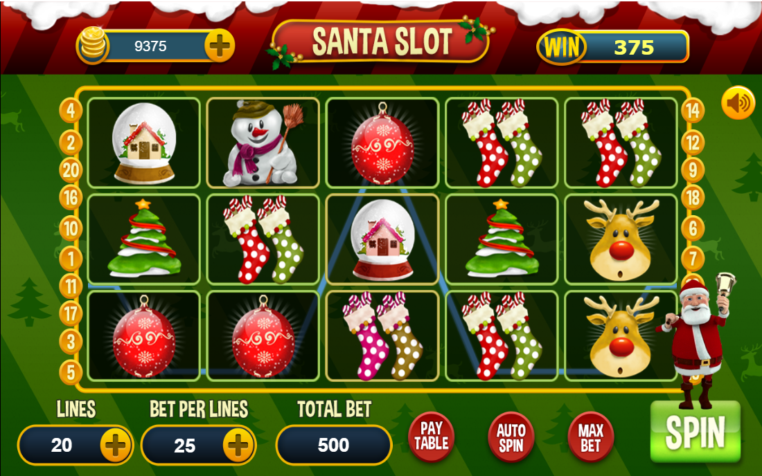 Santa in Town Slot Machine - Play this Video Slot Online