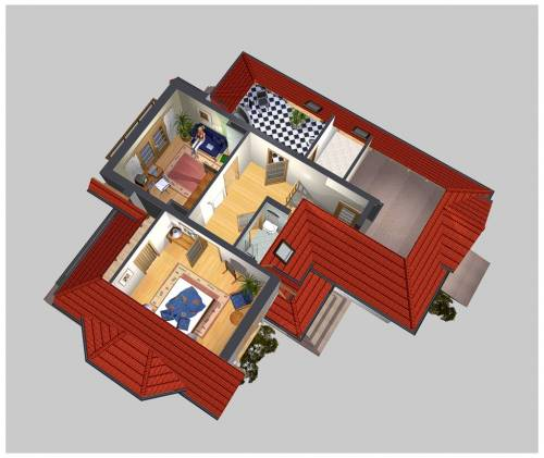 APS 129 - Rzut piętra 3D