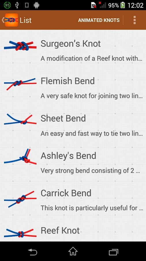 Knots how to tie lite android apps on google play knots how to tie lite screenshot ccuart Image collections