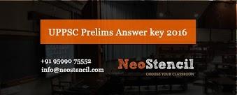 UPPSC Prelims Answer Key 2016