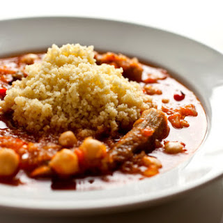 Couscous With Tomatoes, Okra and Chickpeas