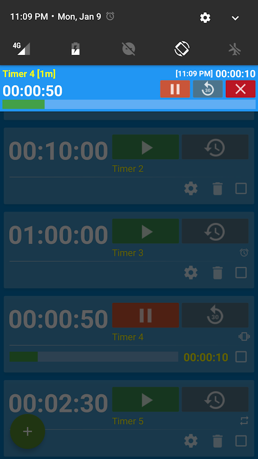 Multi Timer and Stopwatch- screenshot