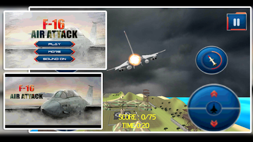 F16 Air Attack- Gunship 3D