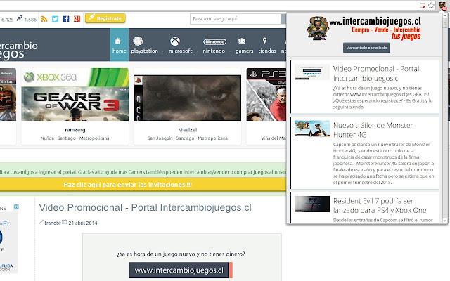 IntercambioJuegos.cl (Notificador)