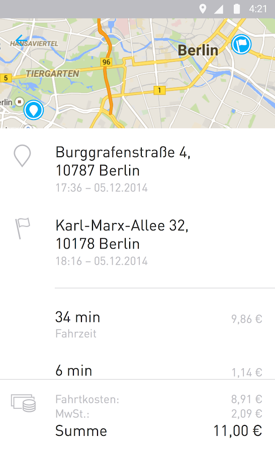 car2go - screenshot