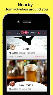 GoDoStuff- Create & Find Events - náhled