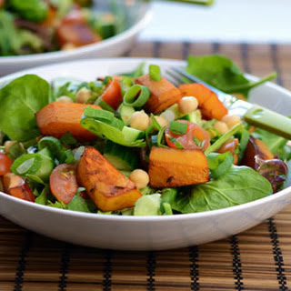 Balsamic-Roasted Butternut and Chickpea Salad