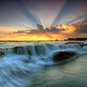 Rock and Roll by Agoes Antara - Landscapes Waterscapes ( nature, waterscape, wave, cloud, landscape, rays )