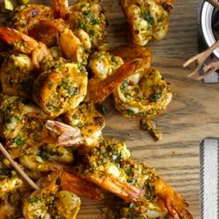 Grilled Shrimp with Pistachio Pesto