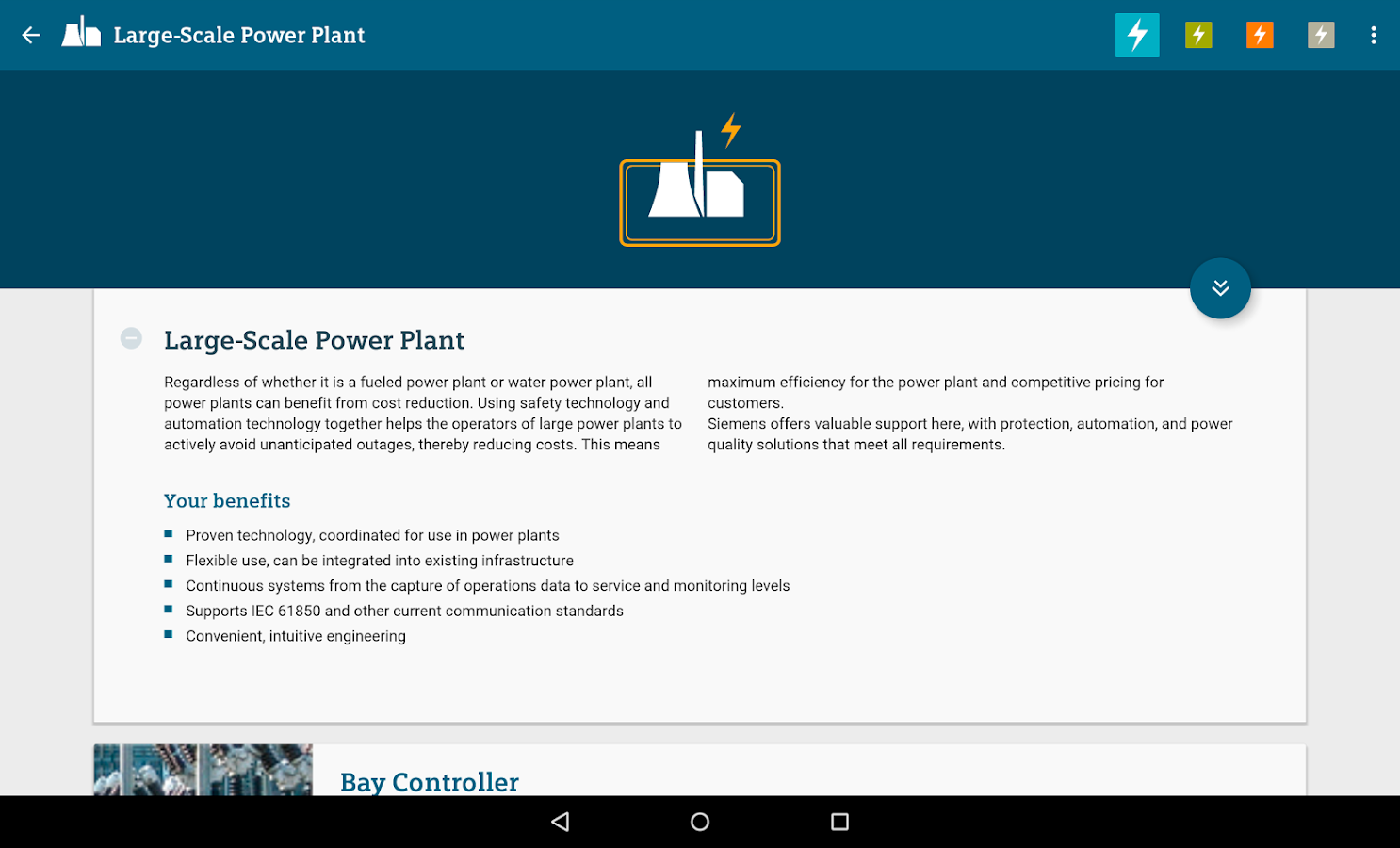 Products for Energy Automation- screenshot