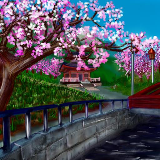 Anime Sakura Live Wallpaper: Japanese Garden Theme
