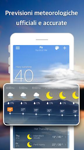 Previsioni meteo e widget e radar screenshot 2