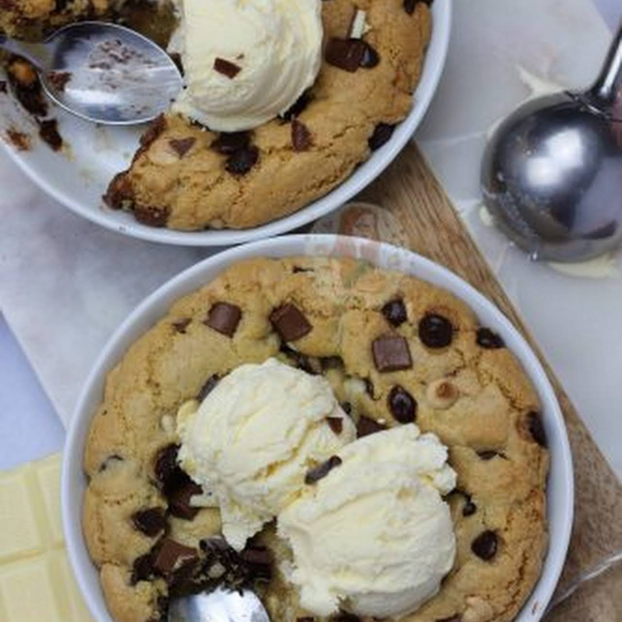 Individual Chocolate Chip Cookie Dough Desserts!