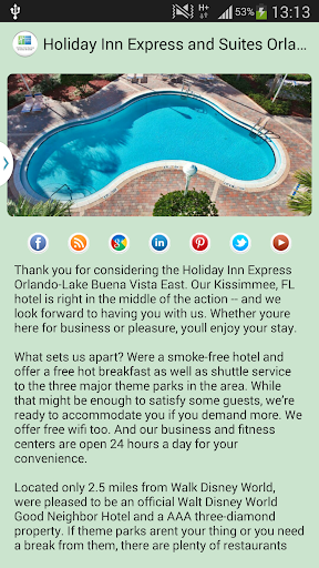 Holiday Inn Suites Orlando 1.0 screenshots 2