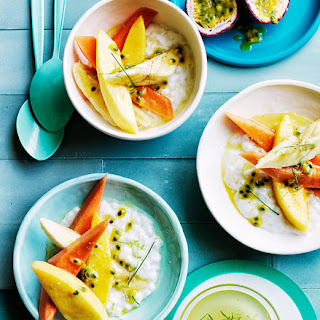 Mango and Papaya with Coconut Tapioca and Lime Syrup Recipe