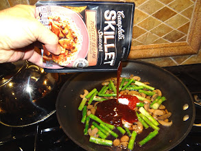 Photo: When I got home, I began to start the cooking process with the Campbell's Skillet Sauces. Looks so yummy already!