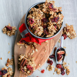 Clumpy Cranberry Spice Granola Recipe