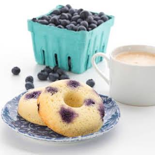 Low Carb Lemon Blueberry Donuts.