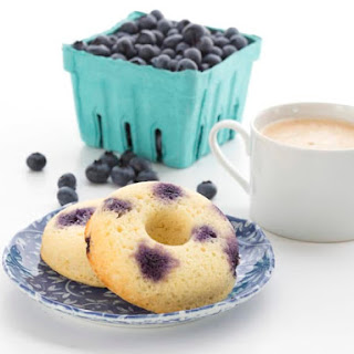 Low Carb Lemon Blueberry Donuts.