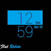 Flat Roboto for SmartWatch 2