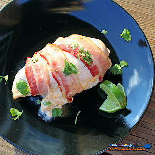 Bacon Wrapped Jalapeno Popper Stuffed Chicken Breasts.
