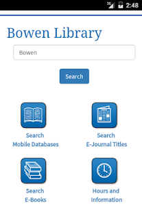 Bethel College Library- screenshot thumbnail