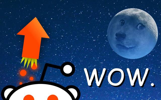 Reddit Moon Rocket (Animated Upvote)