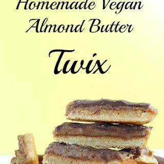 Homemade Vegan Almond Butter Twix