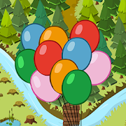 Pop balloons in the forest