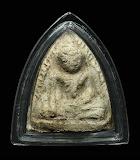 หลวงปู่เผือก วัดกิ่งแก้ว พิมพ์หลวงพ่อโตบางกระทิง มารวิชัย เนื้อผง ปี2496