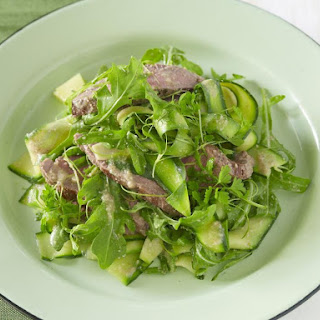Grilled Lamb Salad with Walnut Dressing.