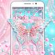 Pink Diamond Butterfly Gravity Theme Download on Windows
