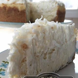 Creamy Coconut Cheesecake.