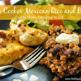 Recipe for Slow Cooker Mexican Black Beans and Rice