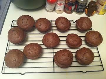 Dark chocolate peanut butter muffins