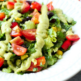 Mexican Chopped Salad with Spicy Avocado Dressing Recipe