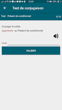 test conjugaison ofline apk screenshot