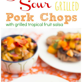 Sweet and Sour Grilled Pork Chips with Tropical Salsa