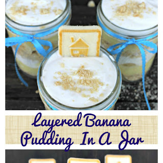 Layered Banana Pudding In A Jar