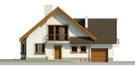 Dom przy Cyprysowej 11 - Elewacja przednia